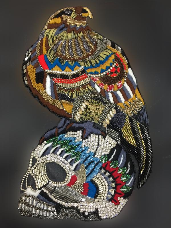 Vulture Skull Stone Work