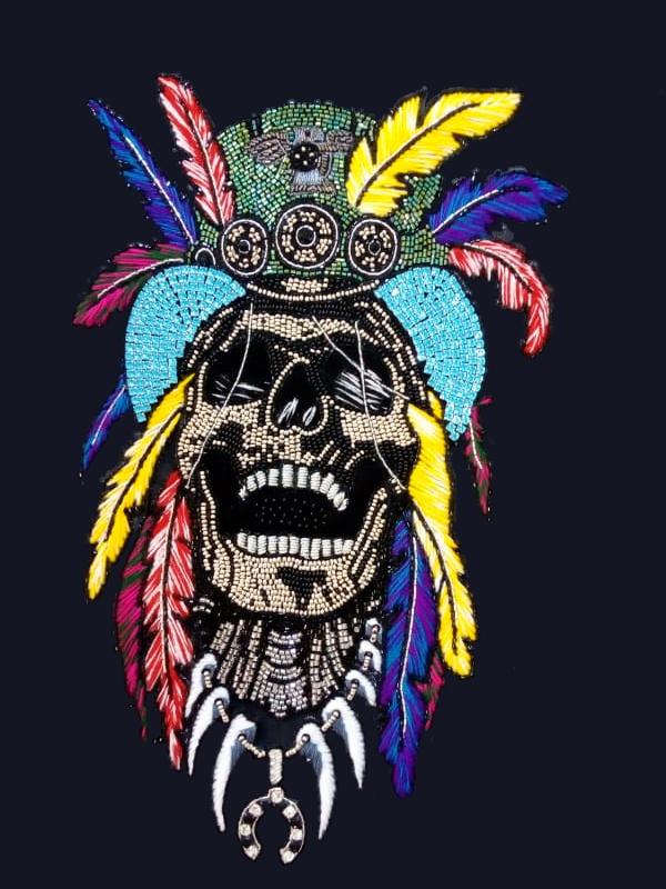 Tribal Skull Stone Work